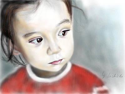Adora 14th Portrait Art Print by Yoshiyuki Uchida