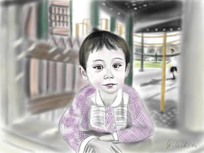 Adora 9th Portrait Art Print by Yoshiyuki Uchida