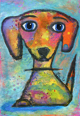 Painting - Adorable Dog by Lynda Metcalf