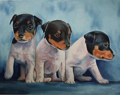 Adorable In Triplicate Art Print