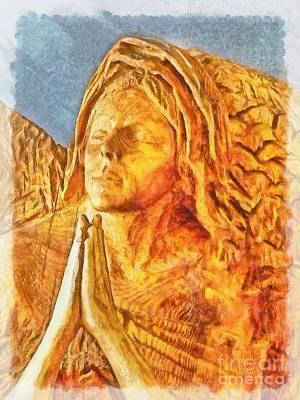 Digital Art - Adoration In Wood 2015 by Kathryn Strick
