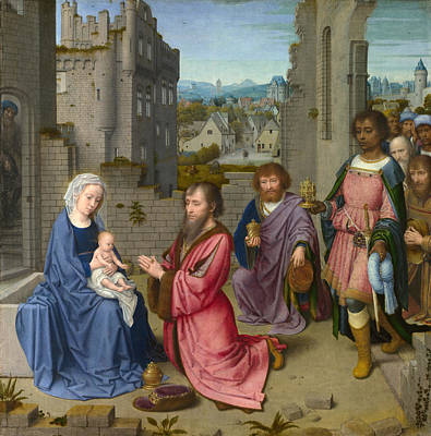 Adoration Of The Kings Art Print by Gerard David