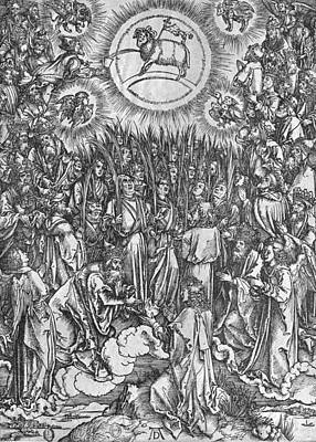 Lion And The Lamb Painting - Adoration Of The Lamb by Albrecht Durer or Duerer