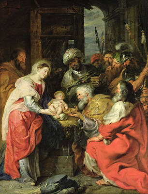 Adore Photograph - Adoration Of The Magi, 1626-29 Oil Canvas by Peter Paul Rubens