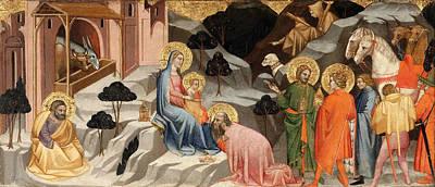 Religious Art Painting - Adoration Of The Magi by Cenni di Francesco