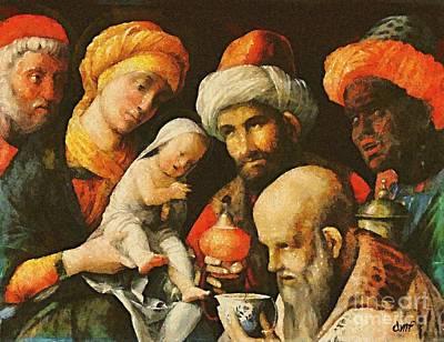 Adoration Of The Magi Art Print by Dragica  Micki Fortuna