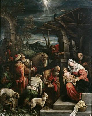Adoration Of The Magi Art Print by Francesco Bassano