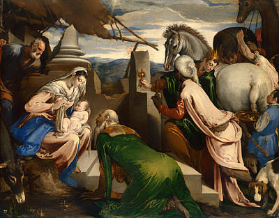 Adoration Of The Magi  Art Print by Mountain Dreams