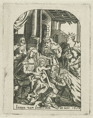 Shed Drawing - Adoration Of The Magi, Johannes Van Londerseel II by Johannes Van Londerseel (ii)