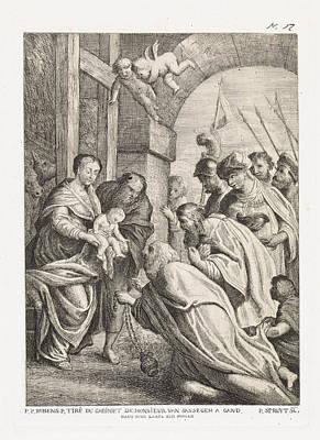 Adoration Of The Magi, Philippe Lambert Joseph Spruyt Art Print by Philippe Lambert Joseph Spruyt