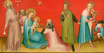 Adoration Of The Magi With Saint Anthony Art Print