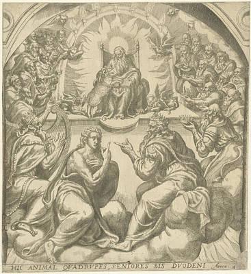 Mystic Drawing - Adoration Of The Mystic Lamb by Artokoloro