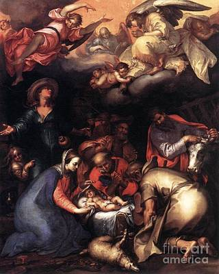 Abraham Painting - Adoration Of The Shepherds by Abraham Bloemaert