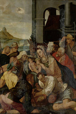 Adoration Of The Shepherds, Anonymous Art Print by Litz Collection