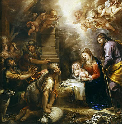 Adoration Of The Shepherds Art Print by Francisco Rizi