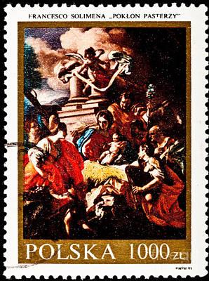 Adoration Of The Shepherds  Art Print by Jim Pruitt