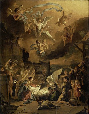 Adoration Of The Shepherds Art Print by Litz Collection