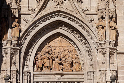 Relief Carving Photograph - Adoration Of The Three Wise Men Relief by Artur Bogacki