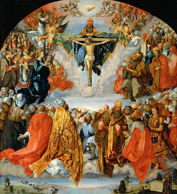 Adoration Of The Trinity  Art Print by Albrecht Duerer