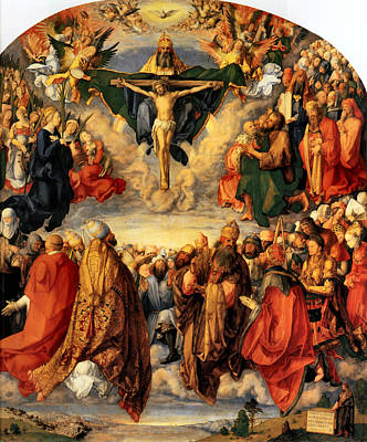 Adoration Of The Trinity Art Print by Albrecht Durer