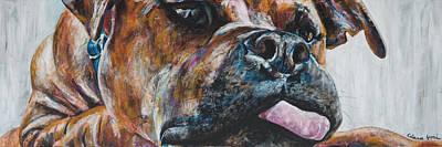 Vick Painting - Adorkabull by Clara Yori