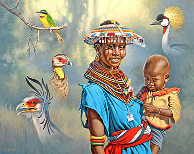 African Woman Painting - Adornments by Paul Krapf