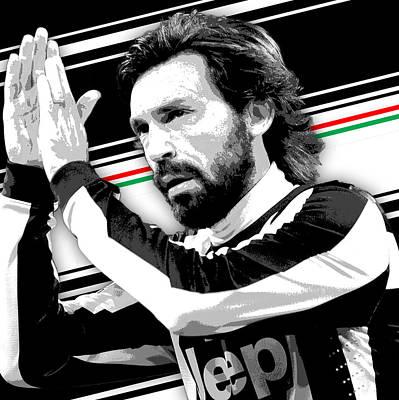 Athletes Wall Art - Photograph - Adrea Pirlo Juventus Print by Pro Prints