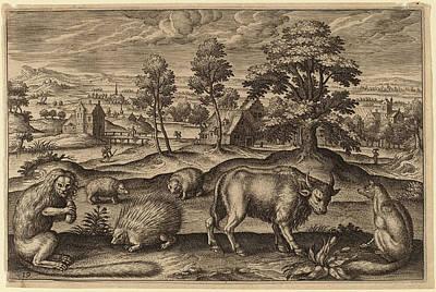 Flemish Drawing - Adriaen Collaert Flemish by Quint Lox