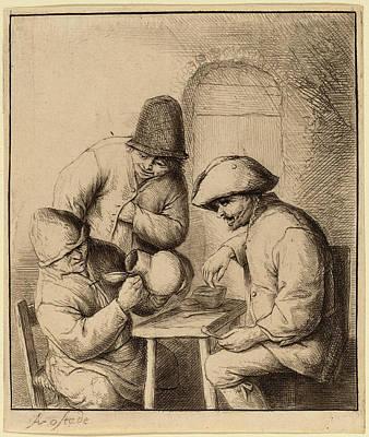Adriaen Van Ostade Dutch, 1610 - 1685, The Empty Jug Art Print
