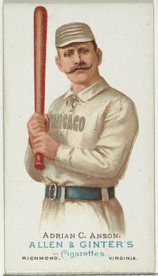 Baseball Cards Drawing - Adrian Cap Anson, Baseball Player by Allen & Ginter