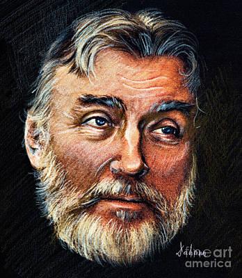 Adrian Paunescu -portrait Art Print by Daliana Pacuraru