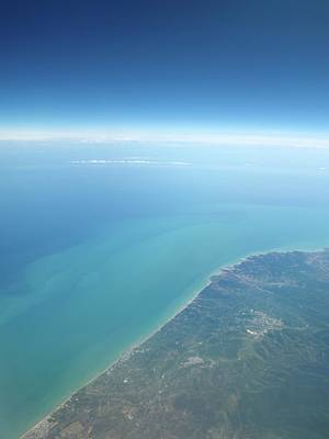 Adriatic Sea From Space Art Print by Detlev Van Ravenswaay