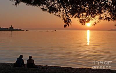 Photograph - Adriatic Sunset - Makarska - Croatia by Phil Banks