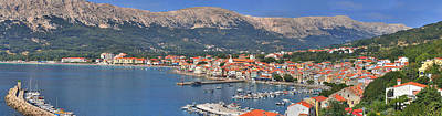 Photograph - Adriatic Town Of Baska Panoramic View by Brch Photography