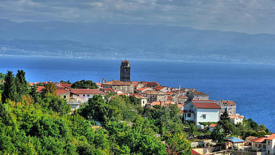 Photograph - Adriatic Town Of Brsec And Kvarner Bay by Brch Photography