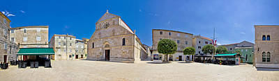 Photograph - Adriatic Town Of Pag Square Panorama by Brch Photography