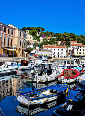 Photograph - Adriatic Town Of Veli Losinj Harbor by Brch Photography
