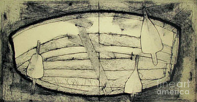 Printmaking Drawing - Adrift Archived Work 1of 10 by Charlie Spear
