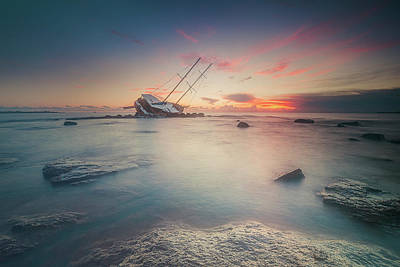 Shipwreck Wall Art - Photograph - Adrift by Daniele Atzori