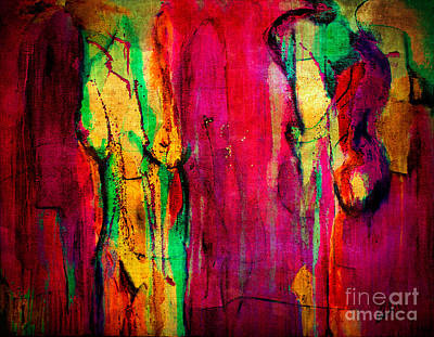 Painting - Adrift In Technicolour Bliss by Nicole Philippi