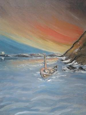 Art Print featuring the painting Adrift by Teresa White