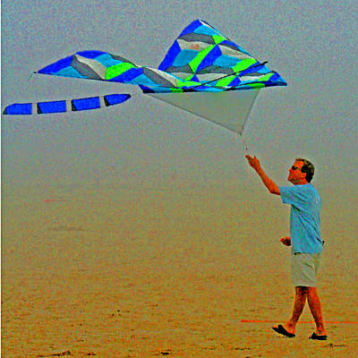 Photograph - Adults Like Kites Too by Joseph Coulombe