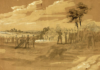 Chinese American Drawing - Advance Of The Army Towards Lewinsville by Quint Lox