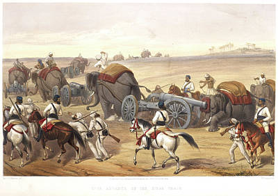Advance Of The Siege Train Art Print by British Library