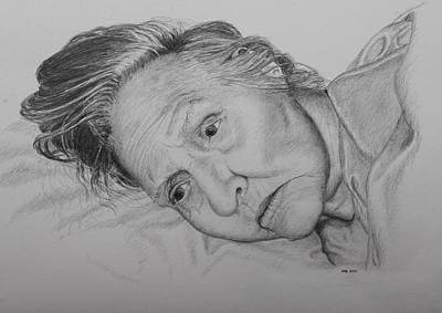 Drawing - Advanced Dementia  by Daniel Reed