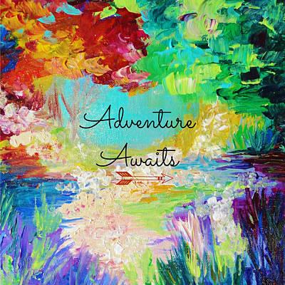 Tangerine Painting - Adventure Awaits by Julia Di Sano