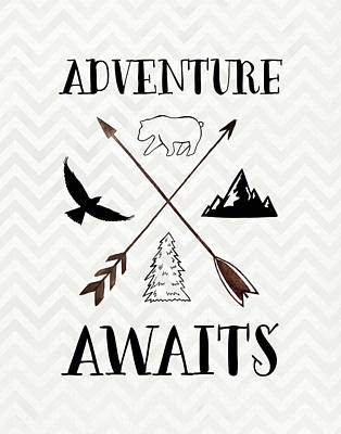 Adventure Awaits Art Print by Tara Moss