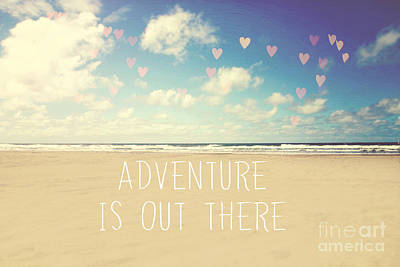 Adventure Is Out There Art Print by Sylvia Cook