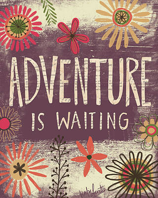 Adventure Painting - Adventure Is Waiting by Katie Doucette