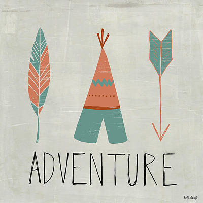 Tipi Painting - Adventure by Katie Doucette